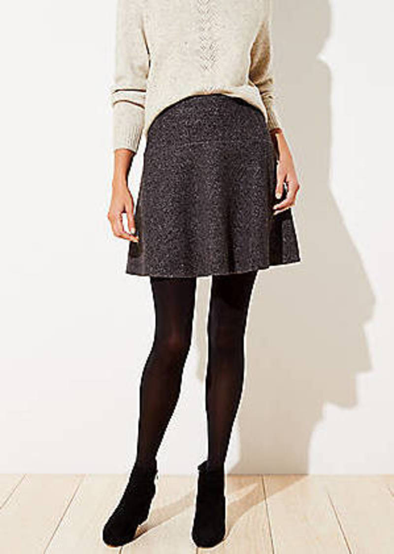 LOFT Textured Flippy Skirt