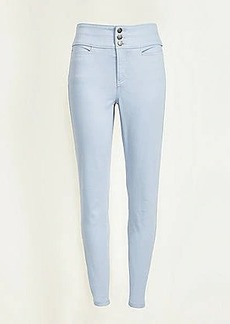 LOFT Textured High Waist Skinny Pants