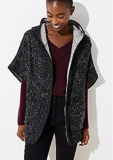 LOFT Textured Hooded Open Poncho