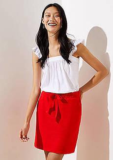 LOFT Textured Jogger Skirt