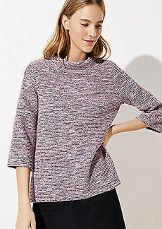 LOFT Textured Mock Neck Top