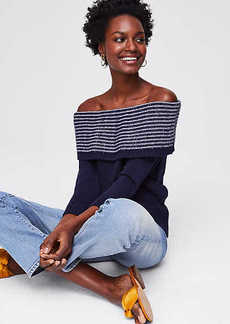 LOFT Textured Off The Shoulder Sweater