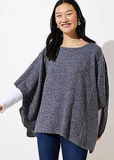 LOFT Textured Poncho Sweater