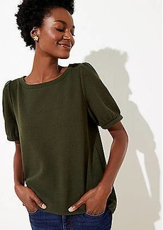 LOFT Textured Puff Sleeve Top