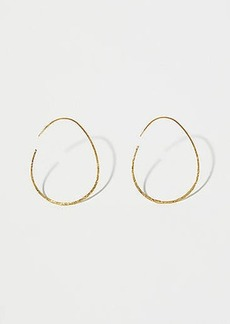 LOFT Textured Pull Through Hoop Earrings