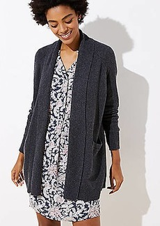 LOFT Textured Shawl Pocket Open Cardigan