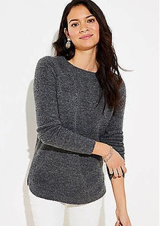 LOFT Textured Shirttail Sweater