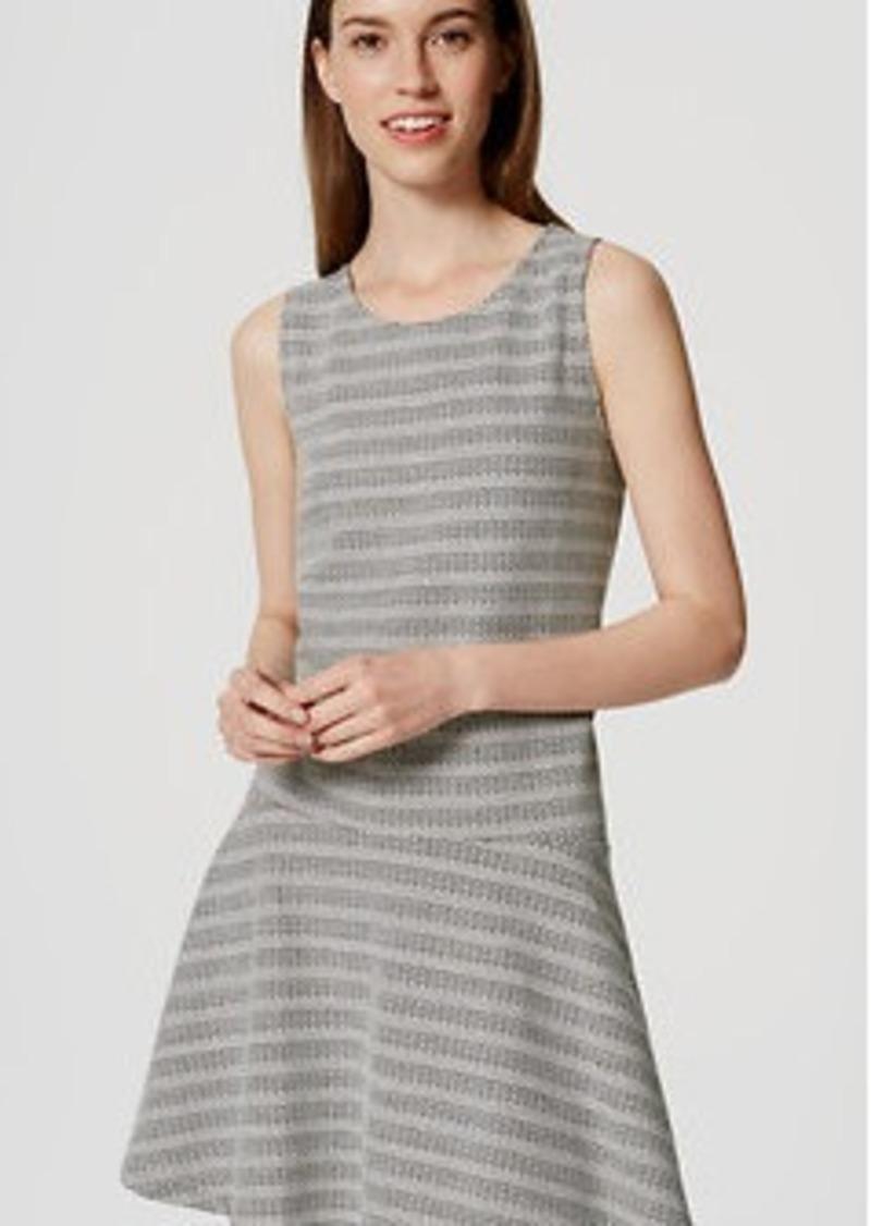 LOFT Textured Stripe Drop Waist Dress