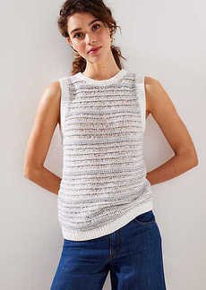 LOFT Textured Stripe Sweater Tank