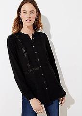LOFT Textured Stripe Tunic Shirt