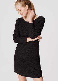 LOFT Textured Sweater Dress