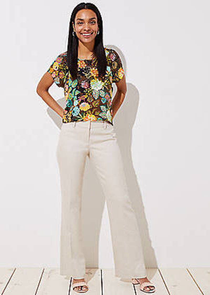 LOFT Textured Trousers in Julie Fit