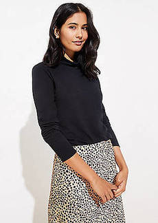LOFT Textured Turtleneck Top