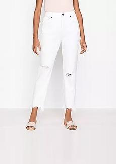 LOFT The Curvy 90s Straight Jean in White