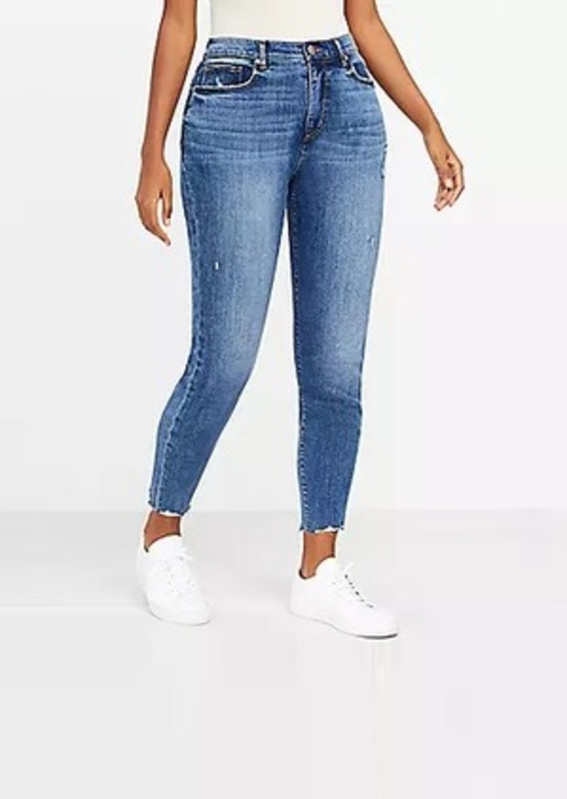 LOFT The Curvy Fresh Cut High Waist Skinny Ankle Jean in Authentic Mid Vintage Wash