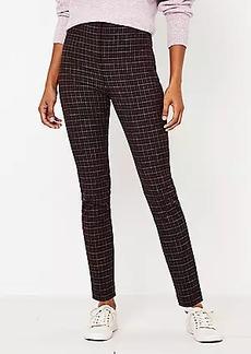 LOFT Curvy Side Zip Skinny Pants in Plaid