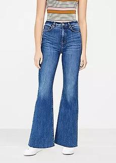 LOFT Fresh Cut High Rise Sandal Flare Jeans in Dark Classic Indigo Wash