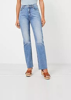 LOFT High Rise Relaxed Straight Jeans in Bleach Out Wash