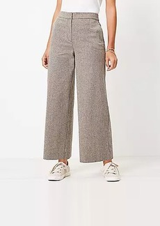 LOFT Wide Leg Crop Pants in Houndstooth