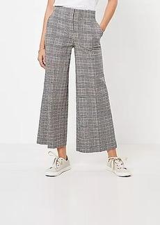 LOFT Wide Leg Crop Pants in Plaid