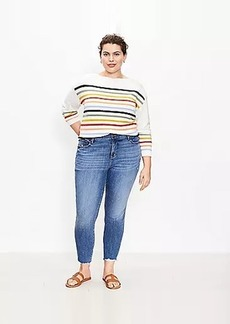 The LOFT Plus Fresh Cut High Waist Skinny Ankle Jean in Authentic Mid Vintage Wash