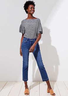 LOFT The Petite Crop Jeans in Dark Stonewash