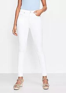 LOFT Petite High Rise Skinny Jeans in White