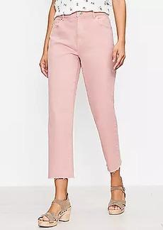 LOFT The Petite High Waist Straight Crop Jean