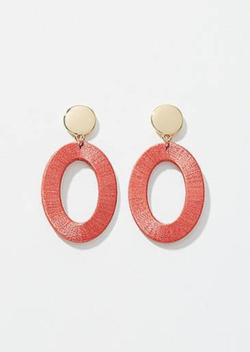 LOFT Thread Wrapped Ring Drop Earrings