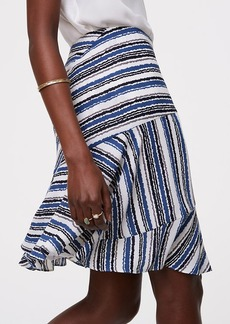 Tidal Stripe Seamed Skirt