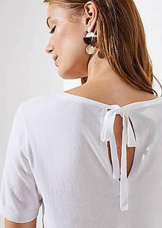 LOFT Tie Back Keyhole Sweater