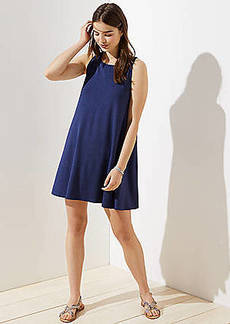 LOFT Tie Back Sleeveless Swing Dress