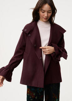 Tie Cuff Cape Coat