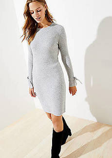 LOFT Tie Cuff Sweater Dress