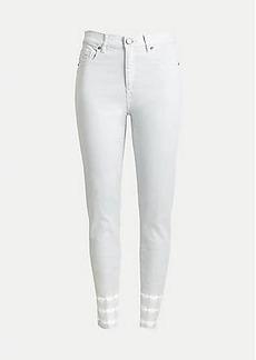 LOFT Tie Dye High Rise Skinny Crop Jeans in Windblown Grey