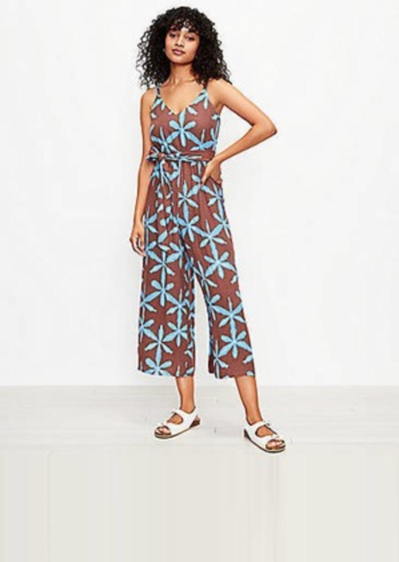 LOFT Star Tie Dye Wrap Cami Jumpsuit