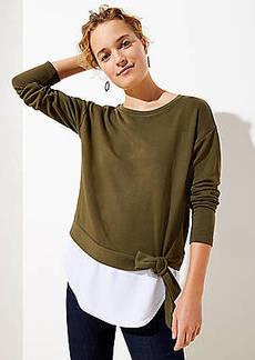 LOFT Tie Hem Sweatshirt