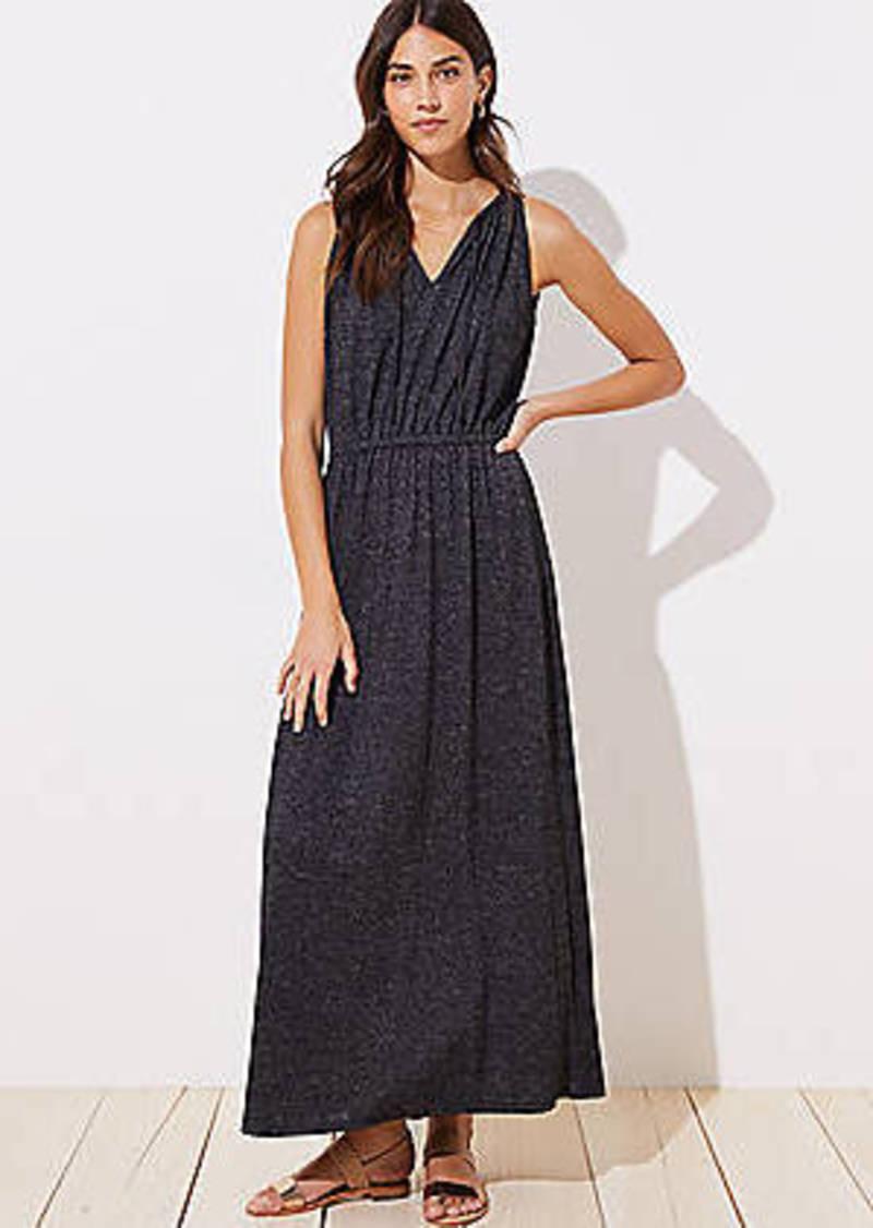 LOFT Tie Neck Maxi Dress