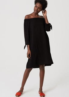Tie Off the Shoulder Dress