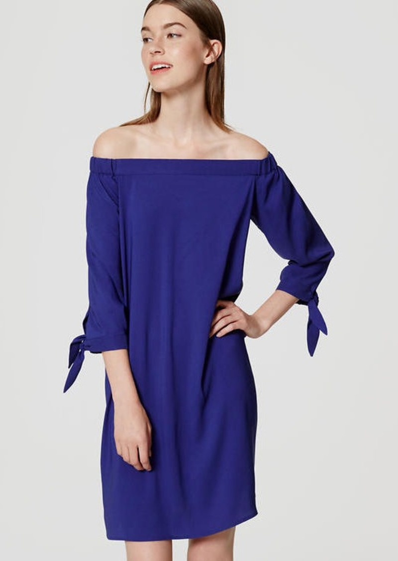 LOFT Tie Off the Shoulder Dress