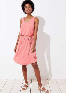 LOFT Tie Waist Flounce Dress