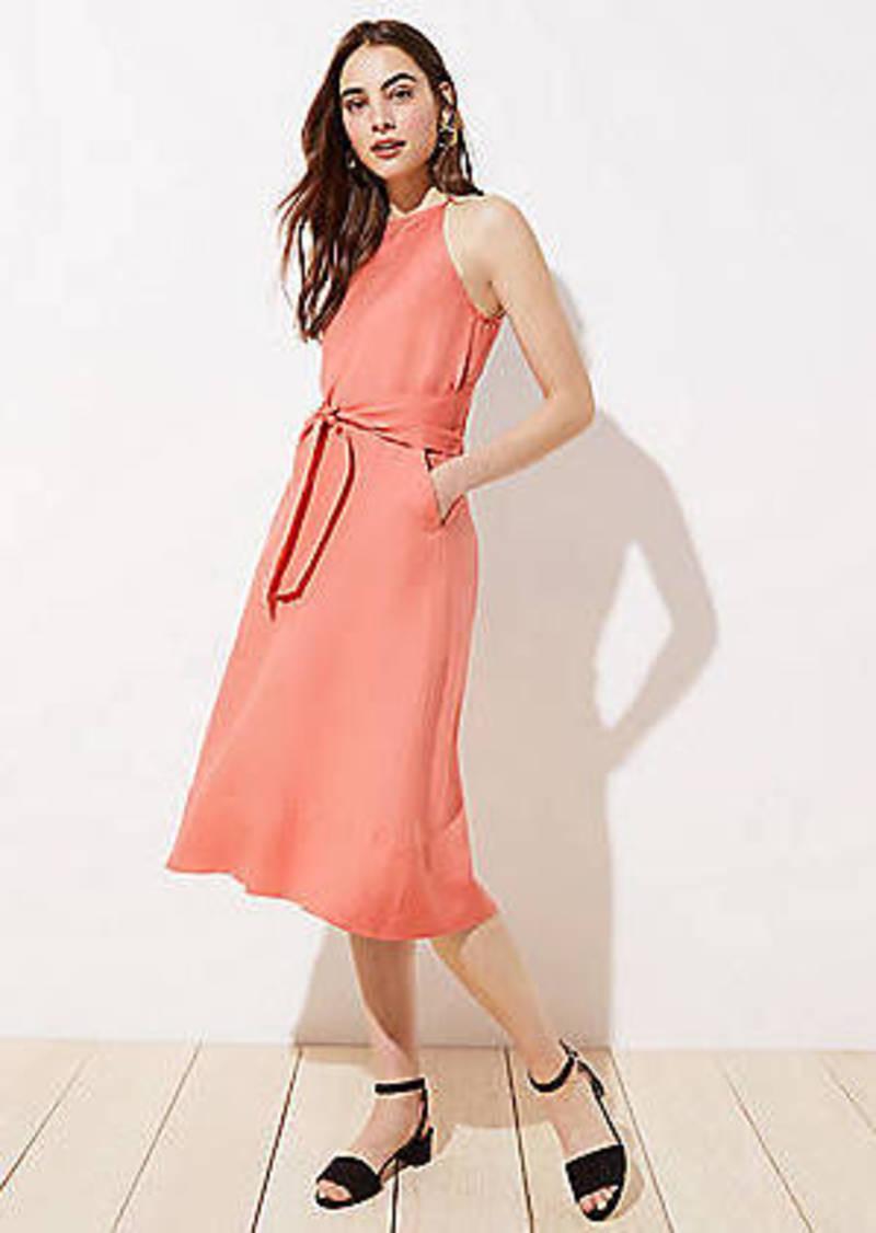 LOFT Tie Waist Halter Dress