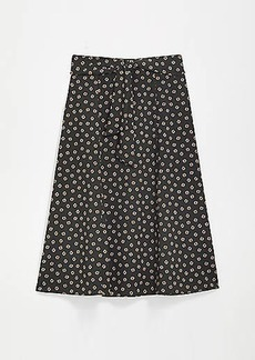 LOFT Tie Waist Midi Skirt