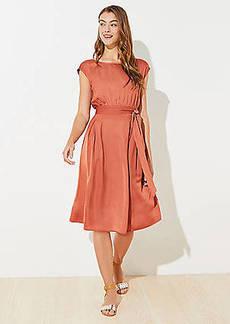 LOFT Tie Waist Pocket Midi Dress