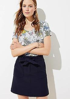LOFT Tie Waist Pocket Shift Skirt