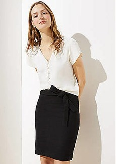 LOFT Tie Waist Pull On Pencil Skirt