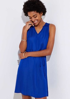 LOFT Tie Waist Ruffle Dress