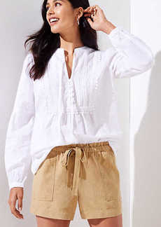 LOFT Tie Waist Safari Shorts