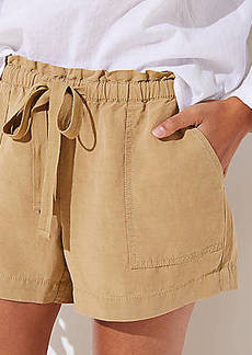 LOFT Tie Waist Safari Shorts