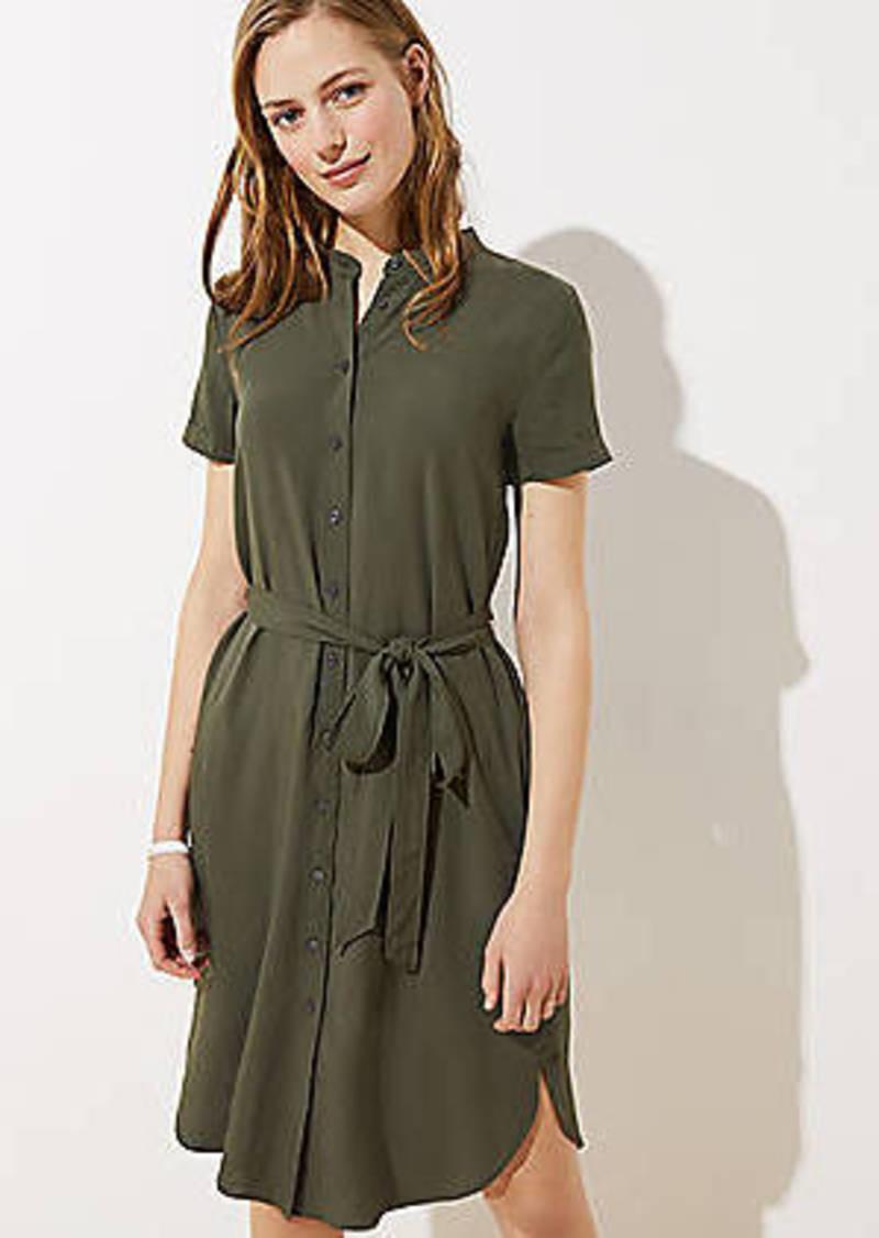 LOFT Tie Waist Shirtdress